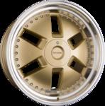 AXXION Y1 Einteilig (GG+ML+) Gold Glanz mit poliertem Felgenbett 9.00x21ET30.005x112.00