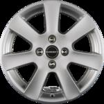 BORBET CA Crystal Silver Einteilig 6.50x15ET40.005x114.30
