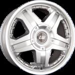BORBET CWB Einteilig Crystal Silver 8.00x18ET35.005x118.00