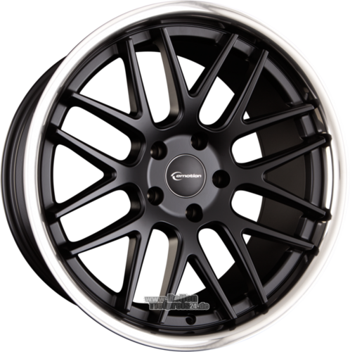 EMOTION-WHEELS CONCAVE Black Matt Inox Einteilig