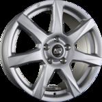 MSW MSW 77 Einteilig Full Silver 7.50x17ET38.005x127.00