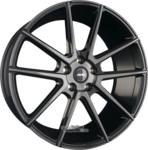 RFK-WHEELS GLS302 Gloss Black Brushed Face Einteilig 9.50x19ET18.005x112.00