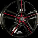 RONAL R57 Einteilig MCR Jetblack-Red Spoke 7.50x19ET55.005x112.00
