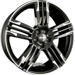 RONAL R58 Einteilig MCR Jetblack-White Rim 8.00x20ET50.005x114.30